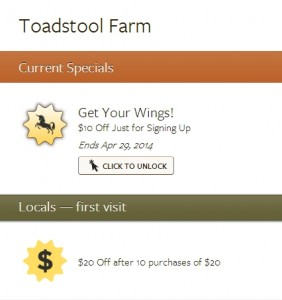 Toadstoad farm coupon