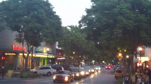 burbank has great shopping and dining at night.