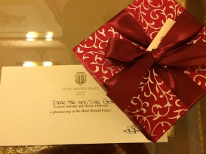 WelcomeBoxHotelBernini Palace