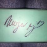 Hana's autographed phone case